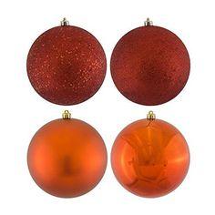 1 inch Copper 4-Finish Ball Christmas Ornament 18 per Box