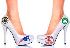 BOSTON pride 4 TEAMS In one glitter heels New by CrystalCleatss
