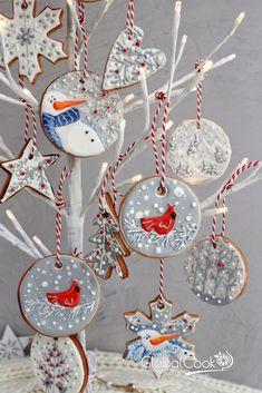 Новогоднее печенье на елку - съедобный новогодний декор