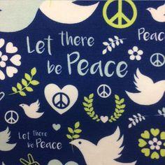 """Baumwoll-Jersey """"Peace"""""""