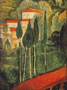 Amedeo Modigliani  Landscape Southern France (1919)