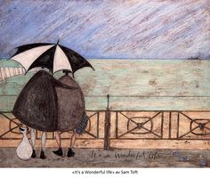 It& a Wonderful Life Giclee Print by Sam Toft Painting Prints, Art Prints, Pour Painting, Paintings, Canvas Wall Art, Canvas Prints, Life Poster, Paper Drawing, Naive Art