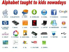 Education & Humour: Technology changing how kids learn the Alphabet – Laura Riness – technologie Kingston, Java, Teaching The Alphabet, Alphabet For Kids, Teaching Math, Technology Humor, Educational Technology, Teaching Technology, Technology Integration