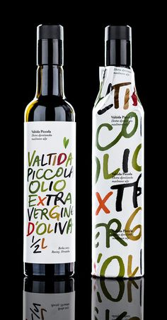 Crit* Valtida Piccola Olive oil packaging that mixes craft cues with a high quality print finish for Valtida Piccola designed by Bruketa & Žinić Olive Oil Packaging, Food Packaging Design, Beverage Packaging, Bottle Packaging, Pretty Packaging, Packaging Design Inspiration, Brand Packaging, Packaging Ideas, Wine Label Design