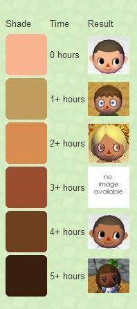 ACNL island tan guide