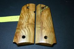 CLEARANCE    FIT AMERICAN CHERRY BURL SPALTED FULL SIZE 1911 GRIPS Wood Mag 8rd…