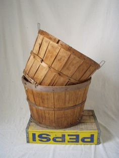 On the way home from selling hogs at the St. Joe, Mo stock yards, we would stop by the orchards and buy a bushel of apples and or peaches. The baskets, once emptied would serve as our laundry baskets for the rest of the year. You could buy basket liners which were made of plastic/vinyl.
