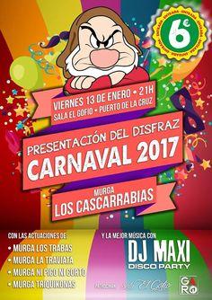 Grupo Mascarada Carnaval: Presentación disfraz Cascarrabias 2017