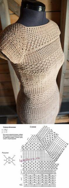65 Ideas crochet dress pattern ganchillo for 2019 Crochet Blouse, Crochet Shawl, Knit Crochet, Doilies Crochet, Crochet Ripple, Crochet Tops, Filet Crochet, Irish Crochet, Pull Crochet