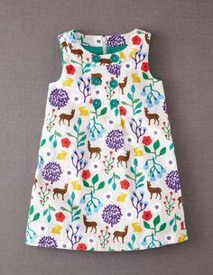 I've spotted this @BodenClothing Button Pinafore Dress Pebble Flower Fawn