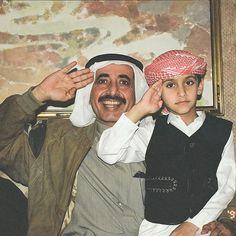 Hasher bin Maktoum bin Juma Al Maktoum y Maktoum bin Hamdan bin Rashid Al Maktoum.  Vía: fanan.8