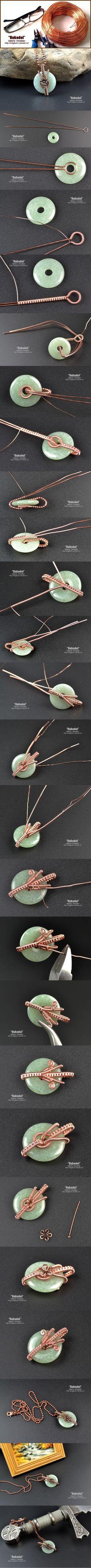 Украшения из натуральных камней. | Рукодел. Wire Wrap Pendant #wirejewelry