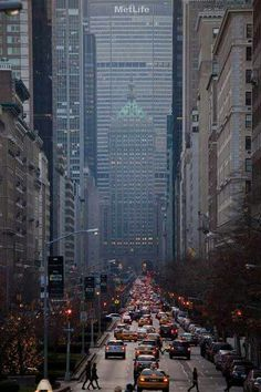 NYC Park Avenue.  I worked straight ahead in the tall building Met Life and also just in front of the shorter building at 277 park avenue :)