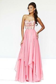 strapless prom dress long