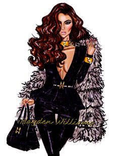 Hayden Williams Fashion Illustrations: Photo// love this whole look