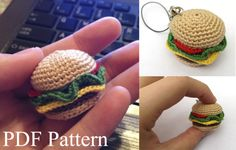 Hey guys, remember that mini Hamburger I made awhile back? Well now I'm selling the pattern for it C: Here is a link to the listing, so check it out