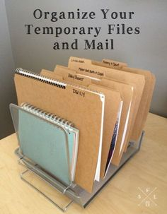 Just because you don't reference some papers every day doesn't mean they aren't important. Create files for events so you can organize what's currently happening in your life.
