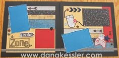 Two Page Scrapbooking layout ProPlayer Boy Game Sports teen #ctmh #scraptabulousdesigns #scrapbooking