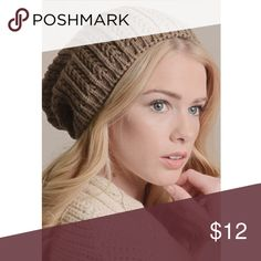 TAUPE KNIT BEANIE, super cute TAUPE KNIT BEANIE, super cute, can be worn tight or with a slouchy look, perfect for the season Accessories Hats