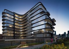 London architect Zaha Hadid Architects has unveiled plans for an 11-storey apartment block that will be constructed beside New York's popular High Line park