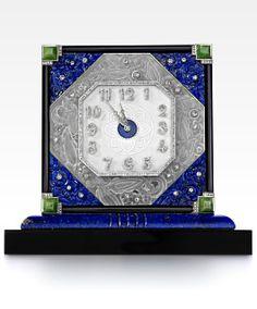 Art Deco Onyx, Rock Crystal, Lapis Lazuli, Jadeite and Diamond Pendulette by Lacloche, circa 1930 Old Clocks, Antique Clocks, Vintage Clocks, Art Nouveau, Art Deco Watch, Antique Typewriter, Art Deco Furniture, Art Deco Jewelry, Jewelry Box