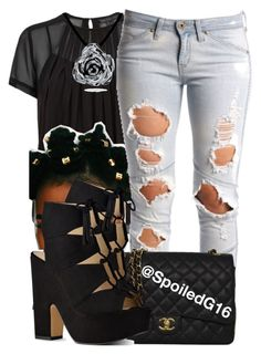 """""""Statement."""" by spoiledg16 ❤ liked on Polyvore featuring Marc by Marc Jacobs, Lee, Chanel, Nine West and Bling Jewelry"""