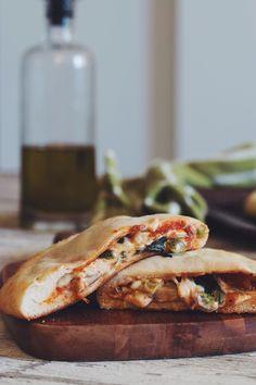 #vegan pizza pockets | RECIPE on hotforfoodblog.com