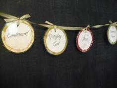 Names of Jesus Christmas Garland