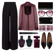 """""""Plum"""" by juliehalloran ❤ liked on Polyvore featuring Mulberry, Miss Selfridge, Balmain, Tom Ford, Nly Shoes, Givenchy, Polaroid, Narciso Rodriguez and MAC Cosmetics"""