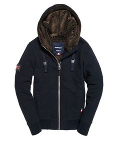 b9ecb19165af1 Mens - Hemmingway Fur Lined Zip Hoodie in Eclipse Navy