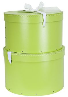 Lime Green hat boxes! £15