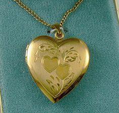 Vintage Gold Filled Heart Locket Van Dell Original Box