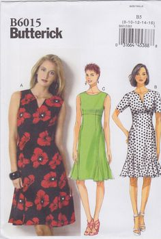 Butterick Sewing Pattern B6015 Misses' Dress New UNCUT by SheerWhimsyDesigns on Etsy
