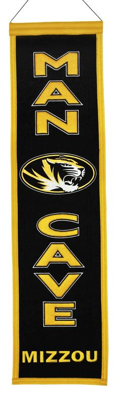 Missouri Tigers Wool Man Cave Banner