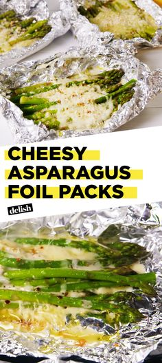 Introducing Your New Favorite Side: Cheesy Asparagus Foil Packs! - Healthy Eating Tips Grilling Recipes, Cooking Recipes, Healthy Recipes, Hibachi Recipes, Cooking Foil, Grilling Ideas, Healthy Grilling, Halloumi, Side Dish Recipes