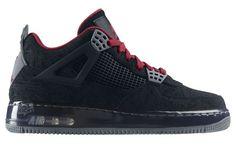 Le Mieux Nike Air Jordan Force Fusion 4 (IV) Premier - Noir Laser Rouge - Homme Baskets France
