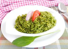 Here's healthy spinach pulao recipe for dinner tonight.Just combine spices along with rice and spinach.Healthy quick easy and really delicious.Serve along Raita and make a full meal on a weeknight dinner when you are back home full tired. -->http://ift.tt/1lS1WJx #Vegetarian #Recipes