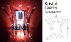 Kristal fali lámpa