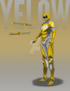 Yellow Ranger 2 by StevieJIllustration on DeviantArt
