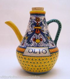Deruta Pottery Geribi Ricco Deruta Oil Bottle