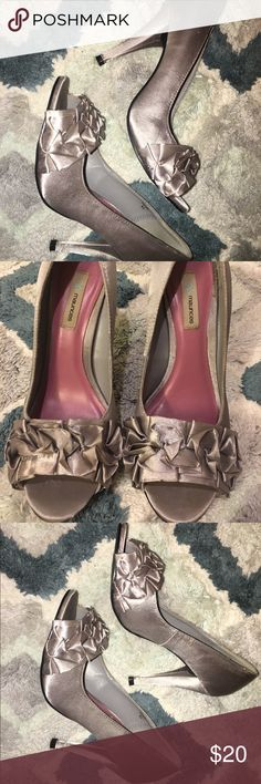 Maurice's peep toe heels Perfect for weddings or proms! Maurices Shoes Heels