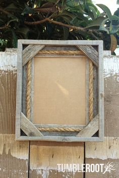reclaimed barn wood frame