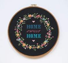 Home Sweet Home Cross Stitch Pattern Home Modern от Stitchering