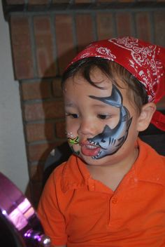 shark attack face painting