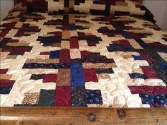 River Log Cabin Cabin, River, Quilts, Blanket, Bed, Home, Stream Bed, Cabins, Quilt Sets