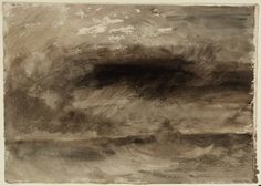 Joseph Mallord William Turner, 'Storm at Sea' circa 1824 (J.M.W. Turner: Sketchbooks, Drawings and Watercolours) | Tate