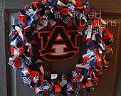Auburn Tigers Rag Wreath