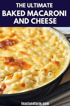 Baked macaroni and cheese is a classic and it's even better with that crispy cheese crust right from the oven. #bakedmacaroniandcheese #macaroniandcheesebaked #macandcheese #bakedmacandcheese