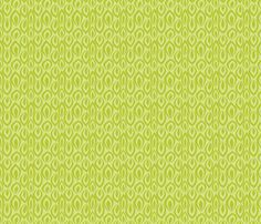 Leafyrific-chartreuse on lime fabric by groovity on Spoonflower - custom fabric