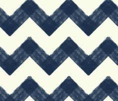 Distressed Chevron in Navy by Amy_Sullivan from Spoonflower #fabric #chevron #navy #white